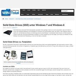Solid State Drives (SSD) unter Windows 7 und Windows 8