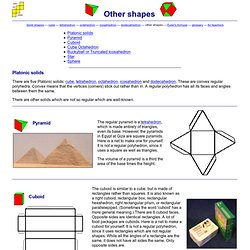 Solid shapes and their nets - other shapes