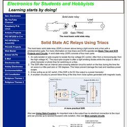 Solid State AC Relays Using Triacs
