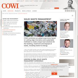Solid waste management - COWI