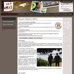 Voyage solidaire, responsable et durable - Arvel Voyages, tourisme solidaire