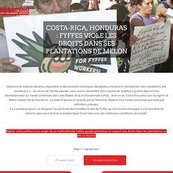 Costa Rica, Honduras : Fyffes viole les droits dans ses plantations de melon