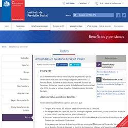 Pensión Básica Solidaria de Vejez (PBSV) - Instituto de Previsión Social