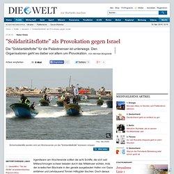 """Naher Osten: """"Solidaritätsflotte"""" als Provokation gegen Israel - Nachrichten Politik - Ausland"""