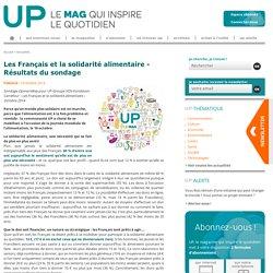 Les Français et la solidarité alimentaire - Résultats du sondage