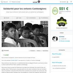 Solidarité pour les enfants Cambodgiens