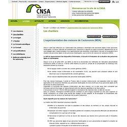 2. Les chantiers - L'expérimentation des maisons de l'autonomie (MDA) Page