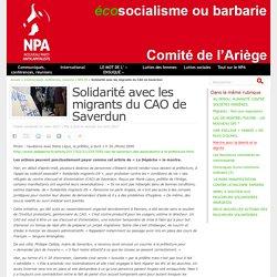 Solidarité avec les migrants du CAO de Saverdun