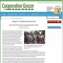 Steps to a Solidarity Economy | Cooperative Grocer