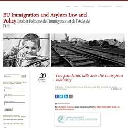 The pandemic kills also the European solidarity – EU Immigration and Asylum L...