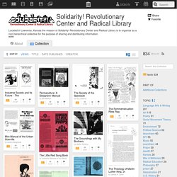 Solidarity! Revolutionary Center and Radical Library : Free Texts : Download & Streaming
