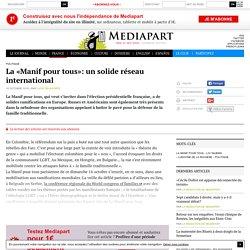 La «Manif pour tous»: un solide réseau international