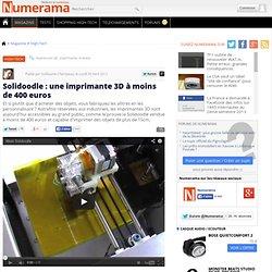 Solidoodle : une imprimante 3D à moins de 400 euros