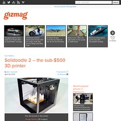 Solidoodle 2 – the sub-$500 3D printer