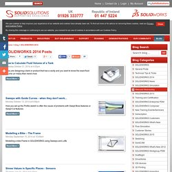 SOLIDWORKS 2014 Posts