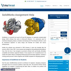 Solidworks Assignment Help, solidworks help online, Solidworks project
