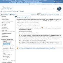 2012 Aide de SOLIDWORKS - Importer la géométrie