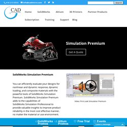 Test Product Designs with SolidWorks Simulation Premium