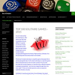 Top 100 Solitaire Games – 2015