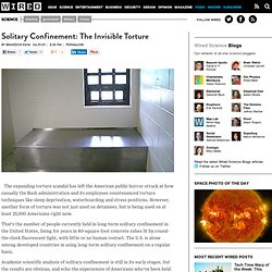 Solitary Confinement: The Invisible Torture | Wired Science