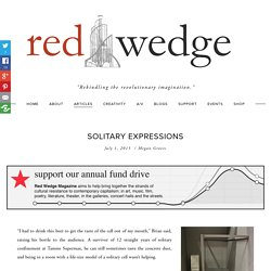 Solitary Expressions — Red Wedge