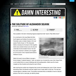 The Solitude of Alexander Selkirk