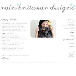 happy solitude - rain knitwear designs - knitting patterns