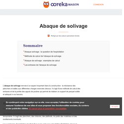 Abaque solivage : calcul, exemples, entraxes - Ooreka