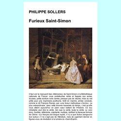 SOLLERS Saint-Simon, la langue royale