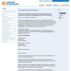 Sollicitatiebrief voorbeelden - NationaleVacaturebank.nl