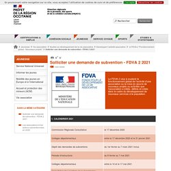 Solliciter une demande de subvention - FDVA 2 2021