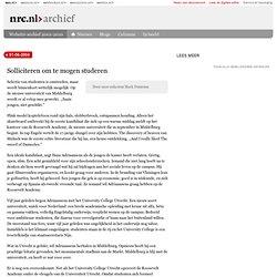 NRC: 1-06-2004 Solliciteren om te mogen studeren