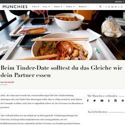 Beim Tinder-Date solltest du das Gleiche wie dein Partner essen
