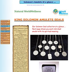 Solomon's Amulets At a glance ...