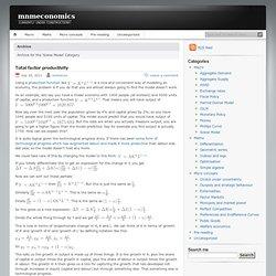 Solow Model « mnmeconomics