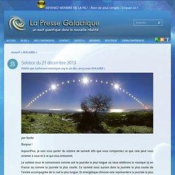 Solstice du 21 décembre 2013