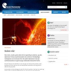 Solen vår / Solsystemet / Rom for barn / Lær om rommet / Hjem - Norsk Romsenter