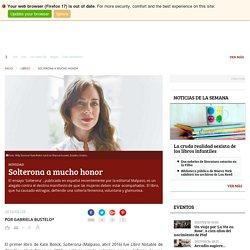 Solterona a mucho honor