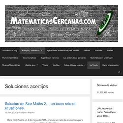 Soluciones acertijos – MatematicasCercanas