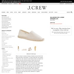 Soludos® for J.Crew espadrilles - shoes - Men's new arrivals