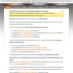 SoluMaths - solutions mathématiques en ligne.