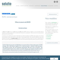 Solutio - RGPD : exemple pratique