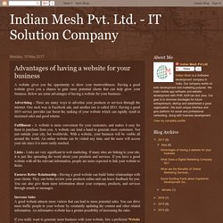 Indian Mesh Pvt. Ltd. - IT Solution Company: Advantages of having a website for your business