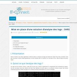 Mise en place d'une solution d'analyse des logs : SARG