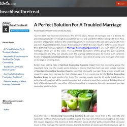 A Perfect Solution For A Troubled Marriage