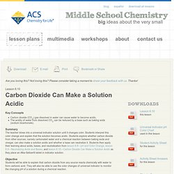 Carbon Dioxide Can Make a Solution Acidic