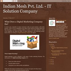 Indian Mesh Pvt. Ltd. - IT Solution Company: What Does a Digital Marketing Company Do?