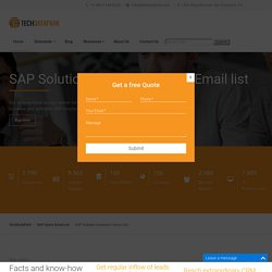 SAP Solution Composer Users Email List
