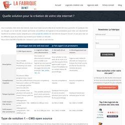 Quelle solution pour la création de votre site internet ?