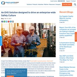 An EHS Solution designed to drive an enterprise-wide Safety Culture